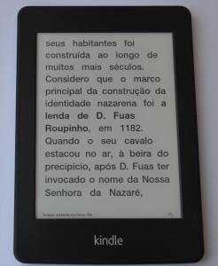 Kindle Paperwhite - corpo médio